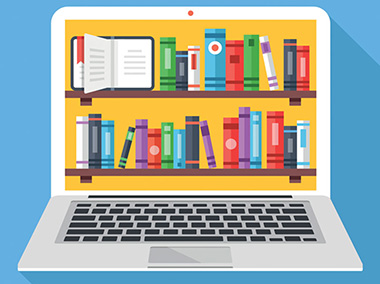how to open an online library